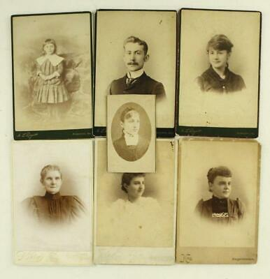Vintage Carte de Visite CDV Family Photo Lot All HAGERSTOWN MD by Rogers & King
