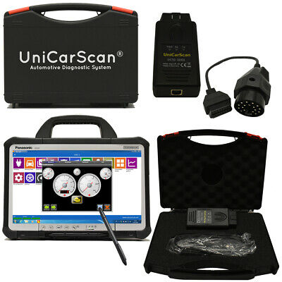 UniCarScan OBD-2 Diagnosesystem + BMW Adapter + Panasonic TOUGHBOOK CF-D1