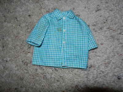 1970'S Vintage Ken Casual All Stars Checked Shirt #1514