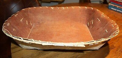 Old Chippewa Birch Bark Basket--Native American