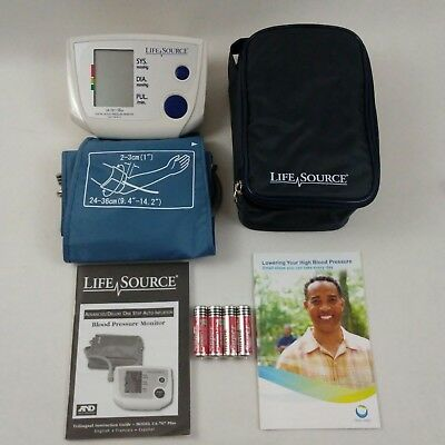 LifeSource UA-767 Plus One Step Auto Inflate Blood Pressure Monitor Med Cuff NEW