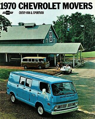 1970 Chevrolet Movers Chevy-Van /& Sportvan Sales Brochure