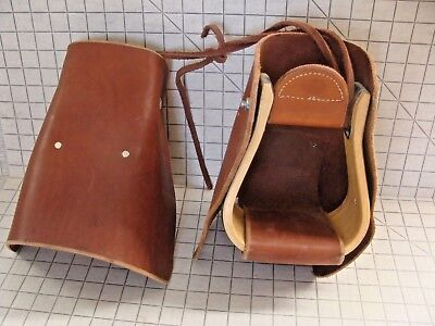 Frecker Saddlery Adult-sized Tapaderos Med Oil Smooth face New w/storage marks