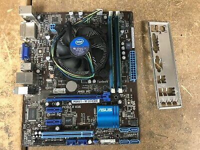 ASUS MOTHERBOARD P8H61-M LE/CSM, G850 2 9Ghz CPU, 2 x 1 GB DDR3, Back Plane