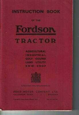 Fordson Tractor Instruction Book Agricultural Rowcrop Land Utility 1948 6353F