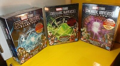 Marvel Studios Cinematic Universe:Phase 1,2 and 3(Blu-ray,REGION FREE)Brand NEW