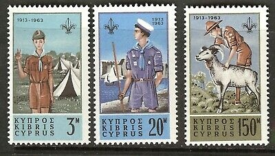 Cyprus 1963 Boy Scout Postage Stamps MNH