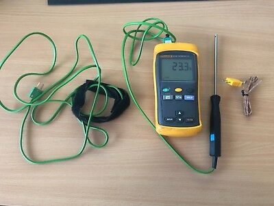 Fluke 51 II Single Input Digital Thermometer Readout in °C, °F, K, with probes