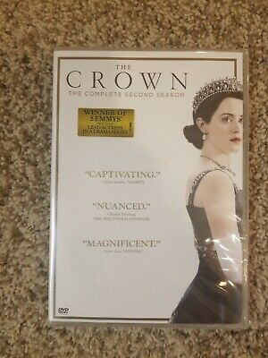 The Crown: Complete Second Season 2 Quick Ship (DVD, 2018, 4-Disc Set) New
