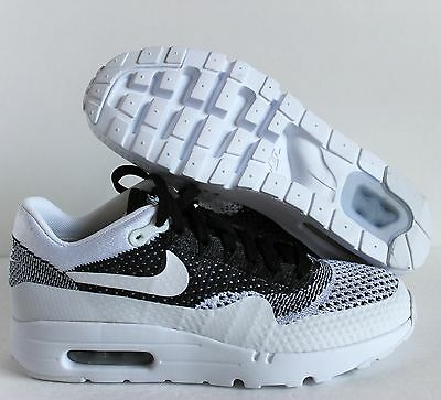 NIKE AIR MAX 1 Ultra Flyknit iD Oreo White Black SZ 13 ( 861579 994 )