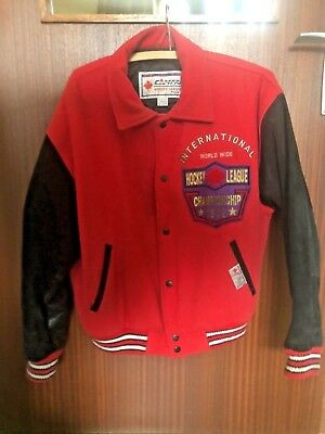 Vintage Campri Hockey League Championship 1992 Puck Jacke Jacket M Winner