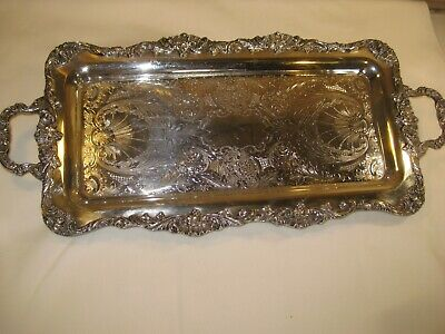 "Leonard Sterling Silver Serving Platter 25"" long x 11 1/2"" wide-BEAUTIFUL!!!"
