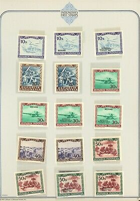 Indonesia Specialized Album Page LOT #15 - SEE SCAN - $$$