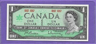 "1967 Bank Of Canada $1 One Dollar ""Centennial"" Unc* Bank Notes! Lot-13"