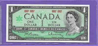 "1967 Bank Of Canada $1 One Dollar*Unc* ""Centennial"" Bank Notes! Lot-14"