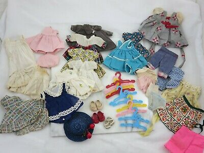 Vintage Vogue Ginny Doll Clothes Lot Tagged & Untagged Hats Shoes Hangers