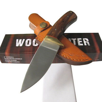 "Rosewood Handle HUNTING KNIFE Skinner Tactical Full Tang 8"" Overall - Rite Edge"