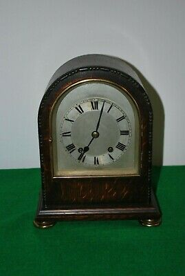 Antique English Tig Tang Quarter Striking Mantle Clock.