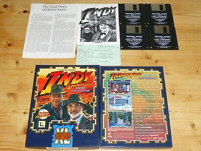 Indiana Jones and the Last Crusade - LucasArts - PC - Big Box