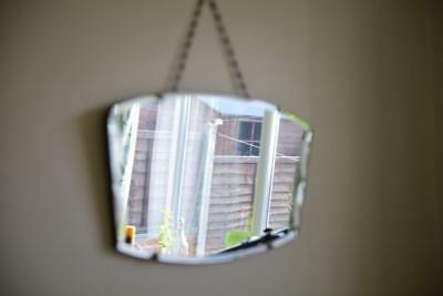 Antique Vintage Beveled Wall Hanging Mirrors x 5