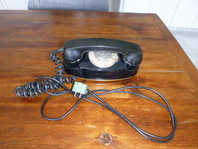 Black Rotary Princess Telephone-Additional Soft-Touch Attachment-Bell Systems/We