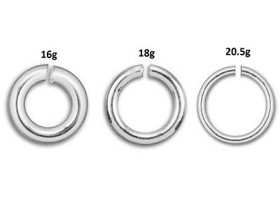 Wholesale Round Open Jump Ring Sterling Silver, Choose Size, Gauge, Package Size