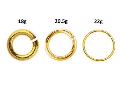 14K Gold Filled Jump Ring,Open 22Gage 0.64mmx3mm