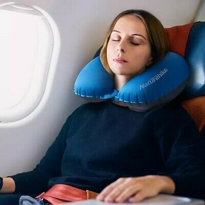 Elevated Neck Support Memory Foam U Shape Travel Pillow Airplane Cushion 2 Color