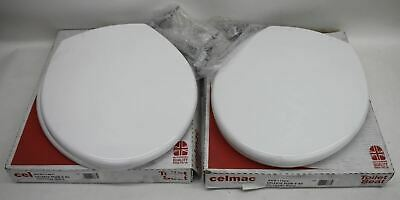 WIRQUIN Celmac SCK11WY Celeste Plus Anti-Viral Toilet Seat & Cover White 2x NEW