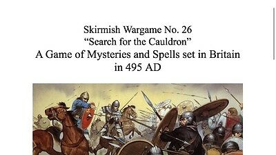 """25mm/28mm Skirmish Wargame """"Search for the Cauldron"""" Dark Ages King Arthur No#26"""