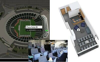 SF Giants Oakland Athletics A's 8/25 FULL PRIVATE lower 18 person suite tickets