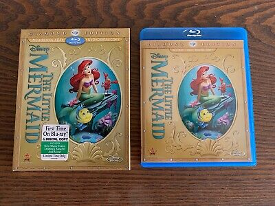 The Little Mermaid (Blu-ray/DVD, 2013, 2-Disc Set, Diamond Edition) w/ Slipcover