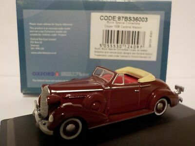 Model Car, Buick Special - 1936 Maroon,  1/87 New