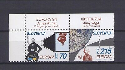 SLOVENIA, EUROPA CEPT 1994, DISCOVERIES with MARGINS, MNH