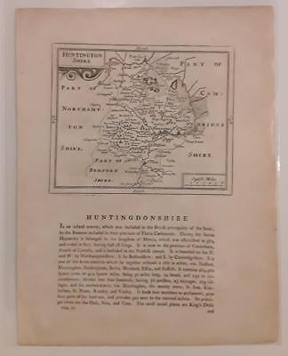 c1780s; Huntingdonshire, England; Antique Map; John Seller/ Francis Grose