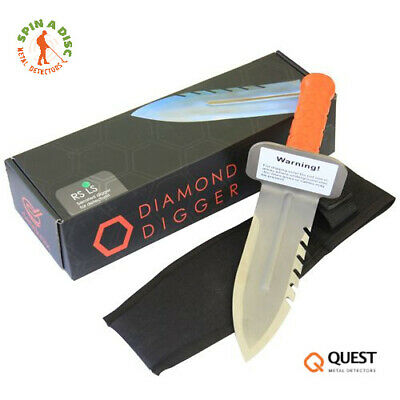 Quest Diamond Digger Tool Left Side Serrated Blade with Free Sheath