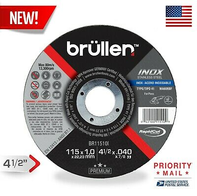 """10 Pack OASIS 4.5/"""" Grinding Wheels 4-1//2 Inch Angle Grinder Discs For Metal"""