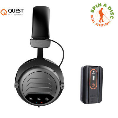 Quest Wirefree Pro Wireless Headphones and transmitter for all metal detectors