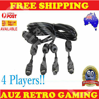 4 Player MULTIPLAYER Link Cable Cord GameBoy Advance GBA SP Game Boy Multi