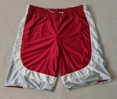 cfdad7bf7 Rare Vintage Nike Basketball Dazzle Shorts Reversible Silky Red Gray Men s  36 XL
