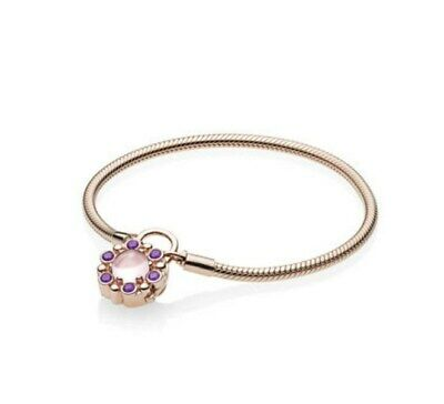 dab5da277 Heraldic Radiance Bracelet Rose Gold and Pink and Purple Crystals Snake  Chain
