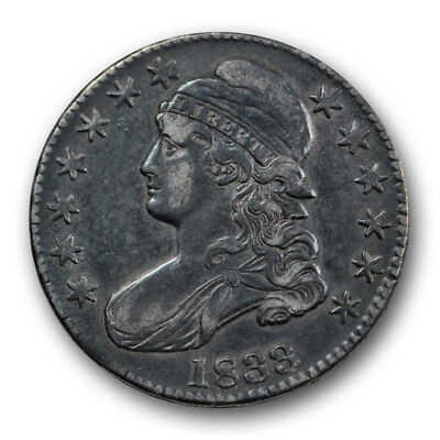 1833 50C Capped Bust Half Dollar Extra Fine XF US Type Coin R1407