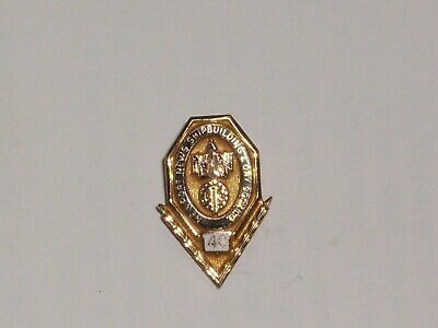 Vintage 10k Gold Newport News Ship Building & Dry Dock Co. 40 YRS Employee Pin
