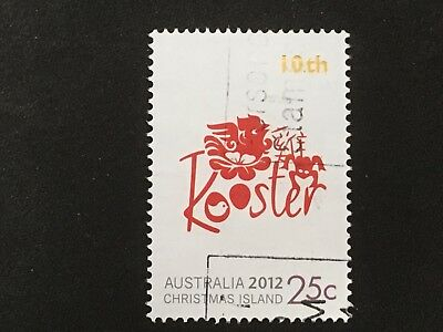 2012 Christmas Island Lunar New Year Of Dragon 10Th Month 25C Rooster Stamp - Fu