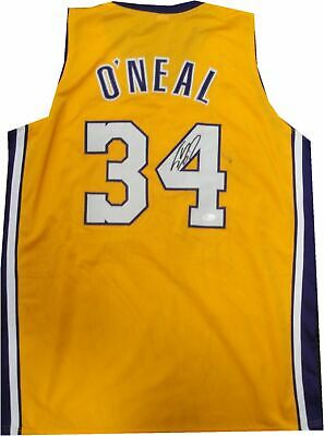 ce1b45ce2a4 Shaq Shaquille O Neal Hand Signed Autographed Lakers Jersey Black Pen Mark  JSA
