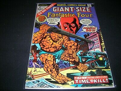 Bronze Age Giant Sized Fantastic Four Comic Book #2 From 1974 In Vg Condition