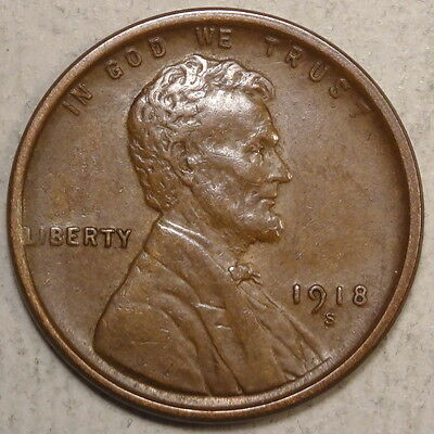 1918-S Lincoln Cent, Almost Uncirculated, Well Struck & Original   0503-12