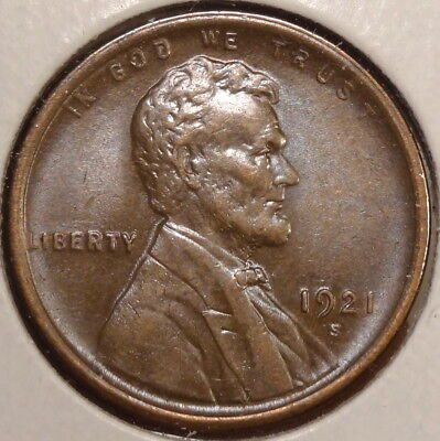 1921-S Lincoln Cent, Choice Uncirculated, Well Struck & Original, Scarce 0916-06