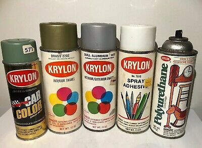 VINTAGE KRYLON SPRAY paint cans Lot Of 3 Hunter Green Jade Green