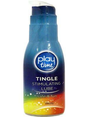 Sex Lube Tingle Sensation Stimulating Condom Friendly Formula Safe Fun 75ml
